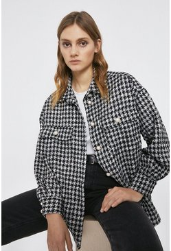 Blackwhite Dogstooth Tweed Overshirt