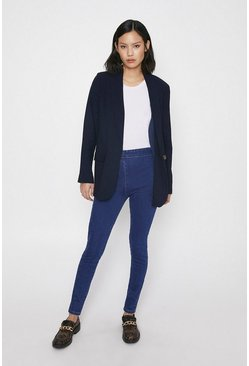 Blue Premium Sculpting Denim Legging