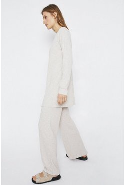 Natural Relaxed Rib Longline Cardigan