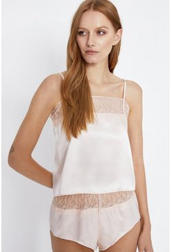 Blush Lace Trim Cami Pyjama Set