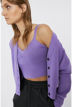 Lilac Knitted Bralet