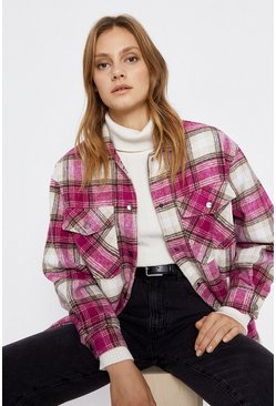 Pink Check Overshirt