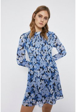 Blue Bloom Floral Flippy Dress