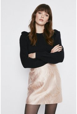 Rose gold Jacquard Skirt