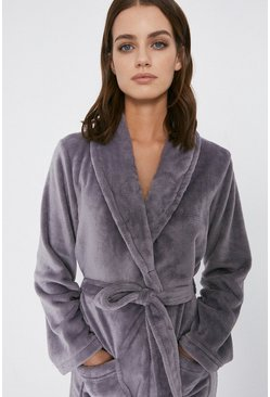 Grey Fleece Robe