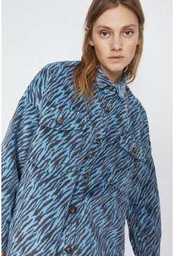 Blue Zebra Shacket