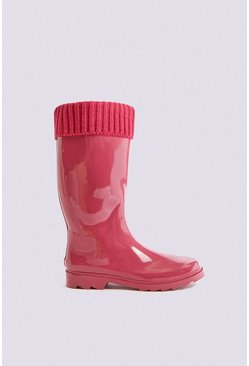 Fuchsia Pink Tall Wellington Boot