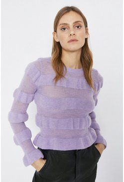 Lilac Cosy Smocked Jumper