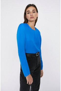 Cobalt Bold Shoulder Top