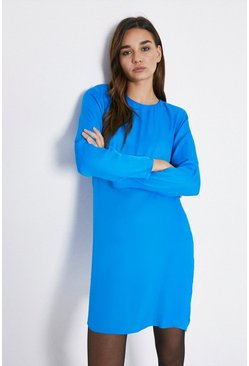 Cobalt Bold Shoulder Dress