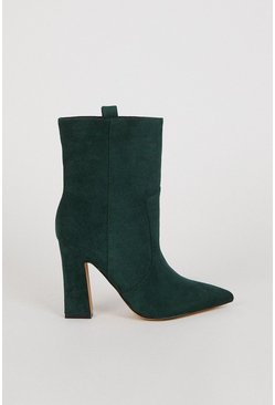 Green Suedette Mid Calf Boot