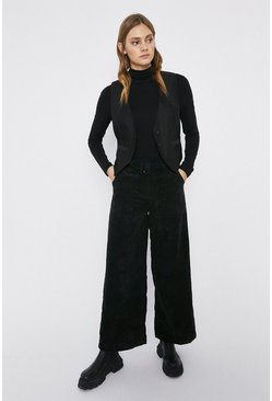Black Cord Wide Leg Trouser