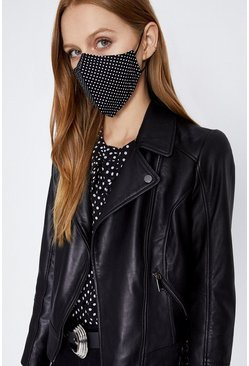 Mono Polka Dot Fashion Face Mask