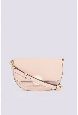 Mink Statement Saddle Bag