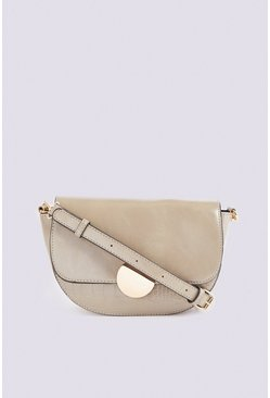 Olive Statement Saddle Bag