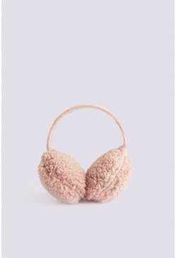Pale pink Faux Shearling Ear Muffs