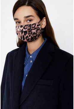 Pink Animal Print Fashion Face Mask