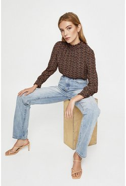 Rust Spot Long Sleeve Blouse