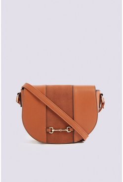 Tan Snaffle Detail Saddle Bag