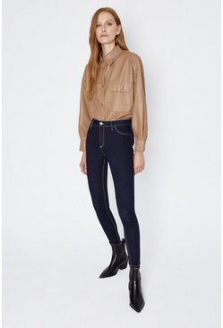 Dark indigo Top Stitch Stretch Jeans