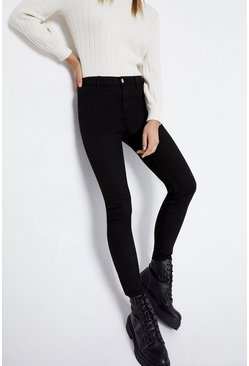 Black Button Jeggings