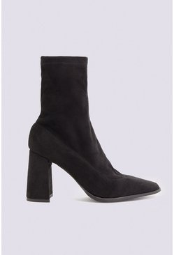 Black Sock Ankle Boot