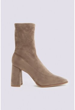 Mink Sock Ankle Boot