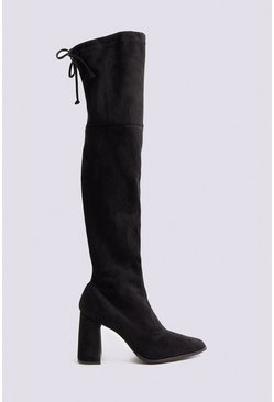 Black Over The Knee Sock Boot