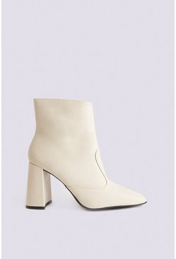 Cream Ankle Boot