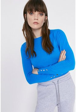 Aqua Crew Neck Jumper