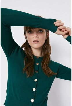 Dark green Crew Cardigan