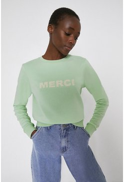 Light green Merci Sweatshirt