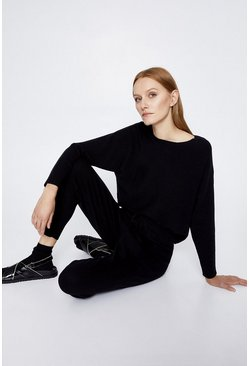 Black Batwing Lounge Jumper