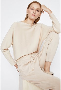 Cream Batwing Lounge Jumper