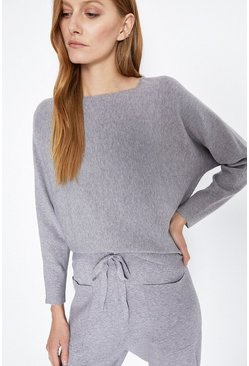 Grey Batwing Lounge Jumper