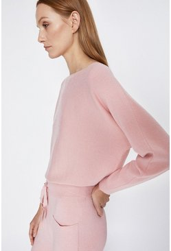 Pale pink Batwing Lounge Jumper