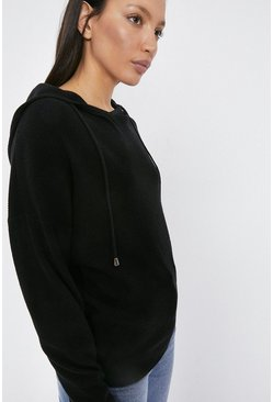 Black Hooded Lounge Jumper
