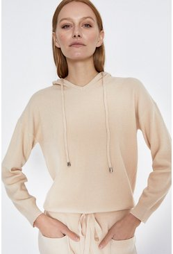 Cream Hooded Lounge Jumper