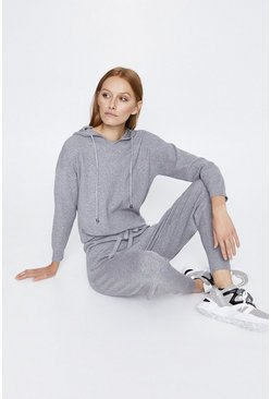 Grey Hooded Lounge Jumper