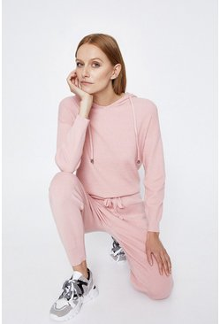 Pale pink Hooded Lounge Jumper