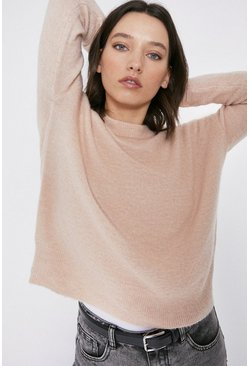 Blush Premium Alpaca Blend Crew Neck Jumper