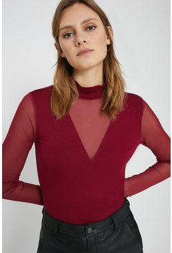 Red V Insert Top