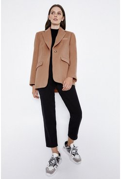 Brown Formal Blazer Coat