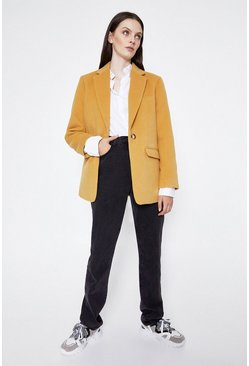Mustard Formal Blazer Coat