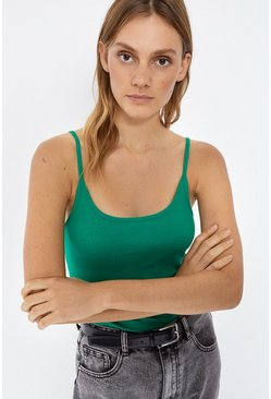 Green Basic Cami Top