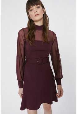 Berry Mix Ponte Dress